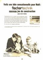 """PUB  JEUX  """" FISCHERTECHNIK 1966 (1) - Poppetjes"""