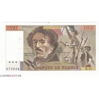 100 FRANCS DELACROIX 1979 TTB+ Fayette 69.2c - 1962-1997 ''Francs''