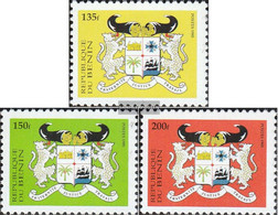 Benin 682II-684II (complete Issue) Unmounted Mint / Never Hinged 1995 State Emblem - Benin (1892-1894)