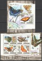 CA023 2016 CENTRAL AFRICA CENTRAFRICAINE FAUNA BUTTERFLIES LES PAPILLONS KB+BL MNH - Butterflies