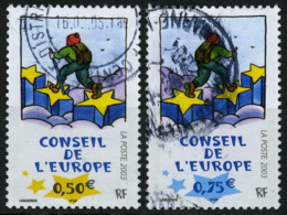 N°YT 126-127 - Conseil De L'Europe 2003 - Service