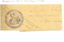 51-cachet Annexe N°2 De L'Hôpital Militaire Du Camp De Chalons Sur Bande De Journal En 14/18 - Postmark Collection (Covers)