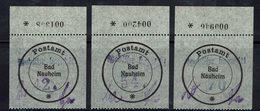 Allemagne - 1946 - Timbres Locaux 1-3 - Bad Nauheim - Verso XX - Réimpressions - TB - - Zone Soviétique