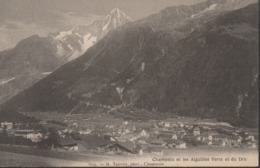 """CHAMONIX  """"74"""" __     CHAMONIX ET LES AIGUILLES VERTE ET DU DRU - Chamonix-Mont-Blanc"""