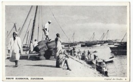 TANZANIA - DHOW HARBOUR, ZANZIBAR - Vedi Retro - Formato Piccolo - Tanzania