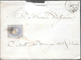 MADRID A SANTO DOMINGO DE LA CALZADA LOGROÑO LA RIOJA AÑO 1872 SOBRE CIRCULADO CONTENIDO COMPLETO - Cartas