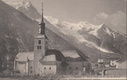 "CHAMONIX  ""74"" __   EGLISE DE CHAMONIX ET LE MONT-BLANC - Chamonix-Mont-Blanc"