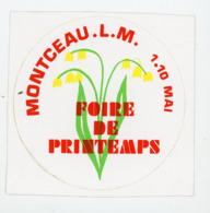 AUTOCOLLANT : MONTCEAU.L.M. - FOIRE DE TRINTEMPS - 1/10 MAI (10X10 CM) - Autocollants