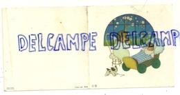 Carte Double De Naissance. 8,8/9 Cm. Bébé Dans Son Berceau Et Ange. 1959. Visé - Naissance