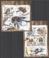 CA072 2016 CENTRAL AFRICA CENTRAFRICAINE FAUNA BIRDS OF PREY LES OISEAUX DE PROIE KB+BL MNH - Adler & Greifvögel