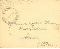 51-cachet Hôpital Temp.N°1 De Chalons/Marne Sur Lettre En 1916-cachet Rare - Postmark Collection (Covers)