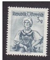 VOLKSTRACHTEN TRACHT NATIONAL COSTUMES Traje Popular FOLKLORE AUSTRIA ÖSTERREICH L'AUTRICHE 1950 MI 893 SCOTT 520 MNH 3g - Costumes