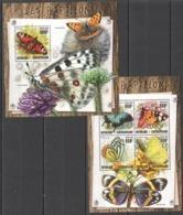 CA084 2016 CENTRAL AFRICA CENTRAFRICAINE FAUNA BUTTERFLIES LES PAPILLONS KB+BL MNH - Butterflies