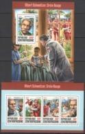 CA099 2016 CENTRAL AFRICA CENTRAFRICAINE RED CROSS DOCTOR ALBERT SCHWEITZER KB+BL MNH - Albert Schweitzer