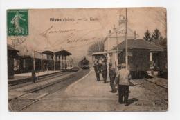 - CPA RIVES (38) - La Gare (belle Animation) - Edition Cottel - - France