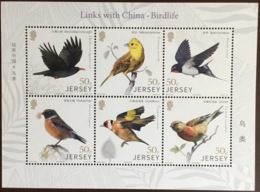 Jersey 2018 Links With China Birds Sheetlet MNH - Birds