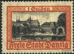 Danzica 212b Usato 1925 Francobollo - Dantzig