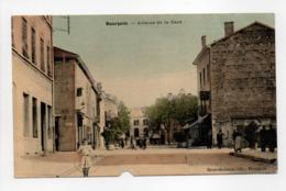 - CPA BOURGOIN (38) - Avenue De La Gare 1920 (avec Personnages) - Edition Brun-Buisson - - Bourgoin
