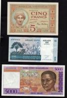 MADAGASCAR: Bon Lot De 3 Billets. Date: 1937/2004. - Madagascar