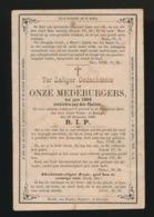 OVERLEDEN AAN CHOLERA MEDEBURGERS IN 1866 - KORTRIJK 1866 - Obituary Notices