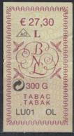 Luxembourg Timbre Taxe Tabac Pot De 300 Grammes LU OL 27,30 Euro - Tabac (objets Liés)