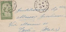A/1 - BUSTA - DA NICE A VENTIMIGLIA - Storia Postale