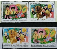 Philippines 2009 South Korea Joint Issue 60th Diplomatic Relationships Festival OX Celebrations 2 Pair Stamps MNH - Philippines
