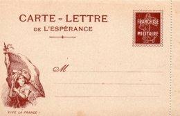 """CL- Série-  De L'Espérance -  """"  Vive La France !  """"-  ( N° 3 )- - Marcofilia (sobres)"""