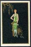 CV2993 DONNINE Elegante Figura Con Abito Da Sera, Ill. Max Ninon, FP, Viaggiata In Busta, Ottime Condizioni - Fashion