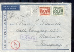 Luchtpost - Nederland - Uruguay - 8.4.41 - Postwaardestukken
