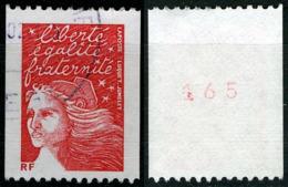 N°YT 3418a - Type Marianne De Luquet - Oblitéré N°rouge Au Verso - Roulettes