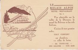 """A/1 - CARTONCINO PUBBLICITARIO 14X9 - MONTGENEVRE - """"LE RELAIS ALPIN"""" - Advertising"""