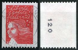 N°YT 3418b - Type Marianne De Luquet - Oblitéré N°noir Au Verso - Roulettes