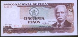 Cuba 50 Peso 1990 Pick 111 UNC - Cuba