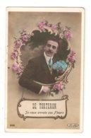 CPA Fantaisie 18 TORTERON De Torteron Je Vous Envoie Ces Fleurs Homme Fleurs Peu Commune - Frankreich