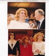 2 VERITABLE PHOTOS / CATHERINE DENEUVE / JEANNE MOREAU ET FANNY ARDANT / 12X9 - Célébrités