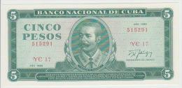 Cuba 5 Pesos 1988  Pick 103d UNC - Cuba