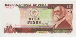 Cuba 10 Pesos 1991  Pick 109 UNC - Cuba