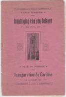 TONGEREN-INHULDIGING VAN DEN BEIAARD-INAUGURATION-CARILLON-1914-BROCHURE+-10 PAGINAS-AFM:15-23CM-ETAT USEE+COMPLET - Livres, BD, Revues