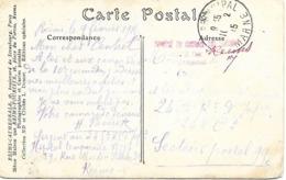 51-cachet Hôpital Temp N°17 De Reims Sur CP En 1915 - Guerra De 1914-18