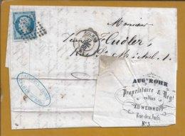 Wines. Weine. Wijnen. Colmar 1866 Wine Merchant Letter. Napoleon Stamp. Colmar 1866 Wijnhandelaar Napoleon-stempel. 4sc - Vini E Alcolici