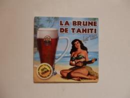 """Sous-Bock """"La Brune De Tahiti"""". - Sotto-boccale"""