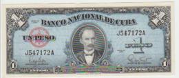 Cuba 1 Pesos 1960 Pick 77b UNC - Cuba
