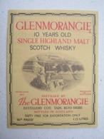 Etikette / Scotch Whisky 1,13 LITRES / The GLENMORANGIE - Whisky