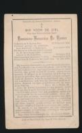 O.PASTOOR ZELE - DOMINICUS DE ROOVER - LOKEREN 1845 - LOKEREN 1899 - Décès