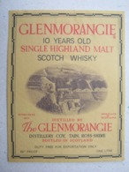 Etikette / Scotch Whisky - ONE LITRE / The GLENMORANGIE - Whisky