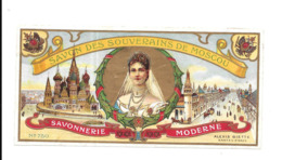 GF1562 - ETIQUETTE SAVON DES PRINCES DES SOUVERAINS DE MOSCOU - TSARINE MARIA FEDOROVNA - ALEXIS BIETTE - - Trade Cards