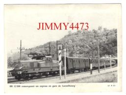 CPM - BB 12000 Remorquant Un Express En Gare De Lutzelbourg + Description Au Dos - CL. B. D. - Trains