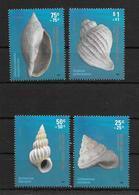 CARACOLES - CARACOL, CARACOLA, SEA SNAIL, BIGORNEAU. ARGENTINA AÑO 2008 COMPLETE SET MNH GJ 3686-3689 - LILHU - Conchas
