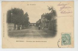 MEYSSAC - Avenue Des Quatre Routes (carte Précurseur ) - Frankrijk